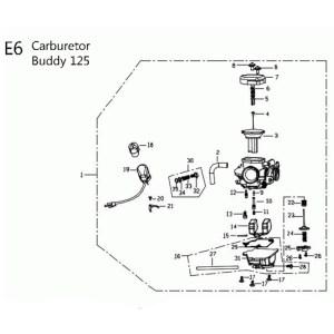 Carburetor for 125cc  150cc Genuine Buddy