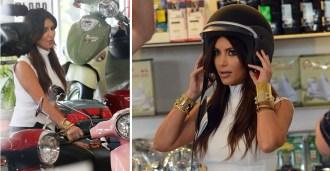 Kim Kardashian on Scooters