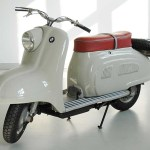 """BMW's '50s-era R10 scooter was sadly never produced. """"Urban mobility"""" was headed in another direction then and they went with the Isetta microcar instead."""
