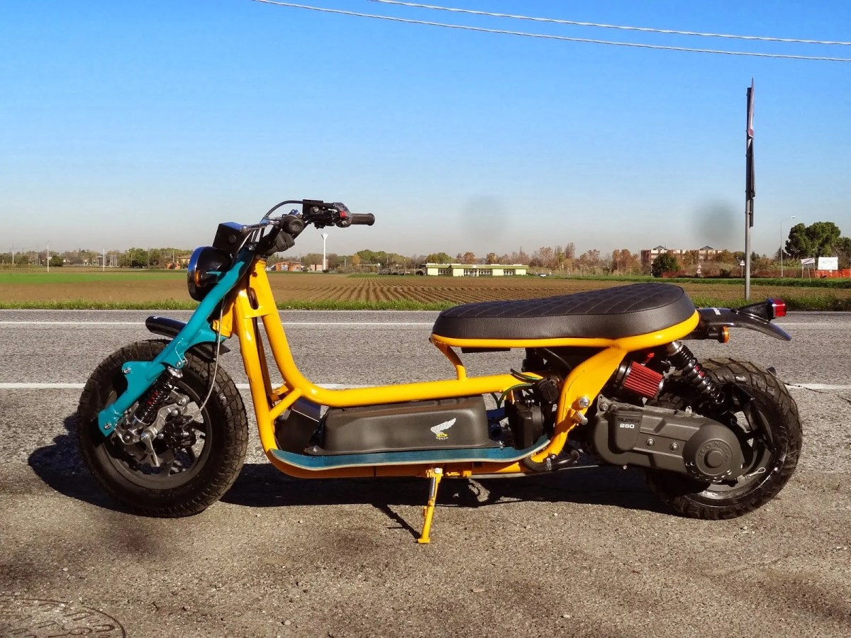B.R. Moto's Custom Honda Helix | ScooterFile | ScooterFile