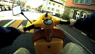 Video: The Yellow Vespa Menace