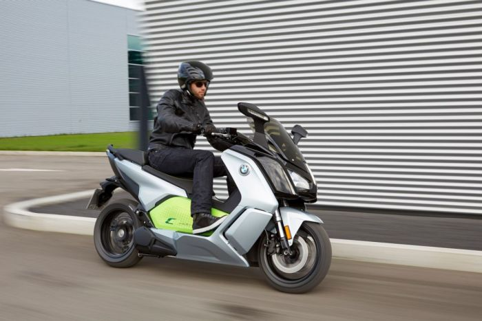 The BMW C Evolution electric scooter gets a new battery and more power courtesy of their i3 car.