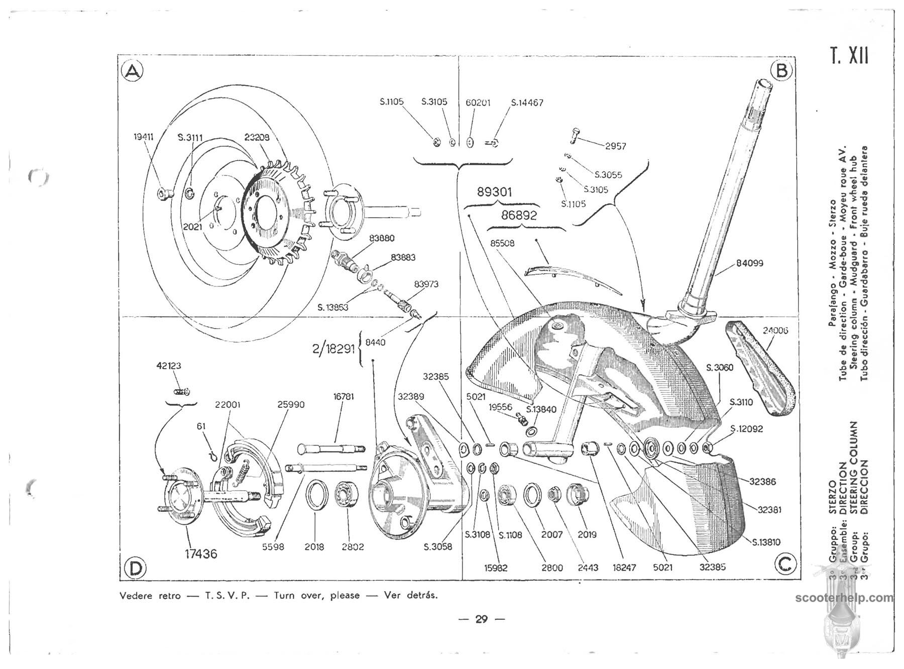Modern Vespa Vbb Front Axle Removal How