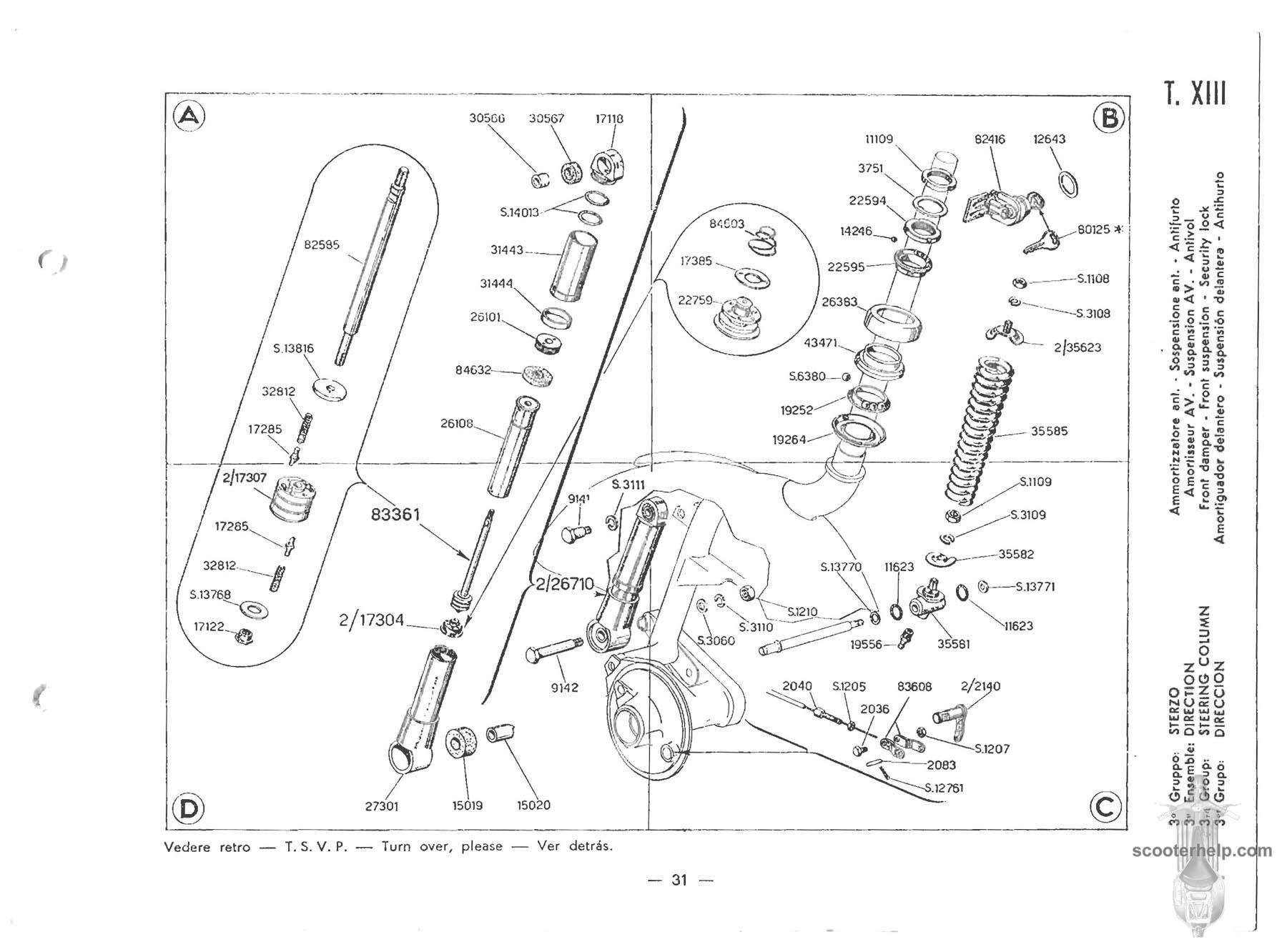Vespa 150 Vbb1t Parts Manual