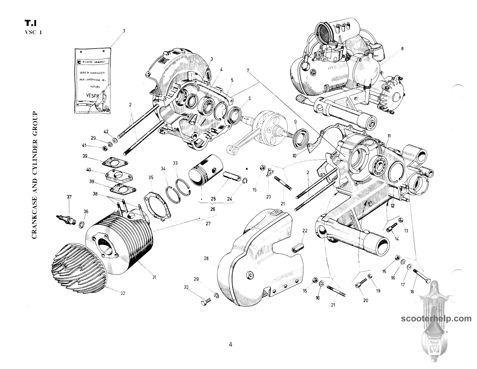 Vespa ss180 vsc1t parts book rh scooterhelp vespa et4 parts diagram vespa px parts diagram