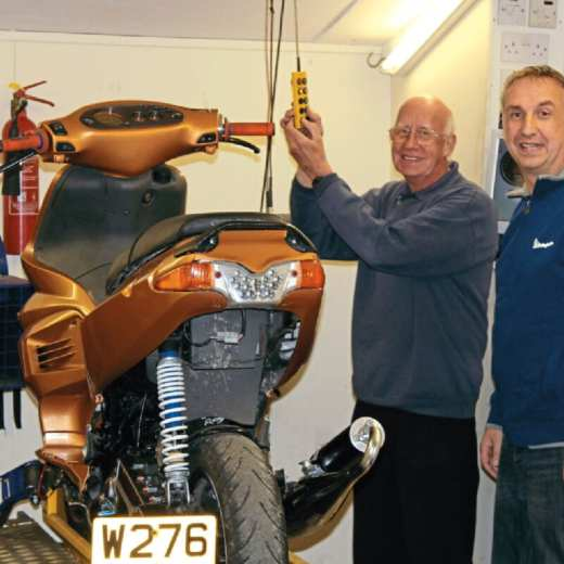 Peter and son Neville with their dyno.