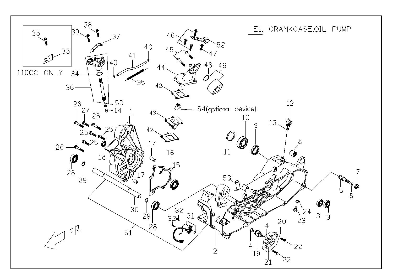 Rattler 110 Crankcase