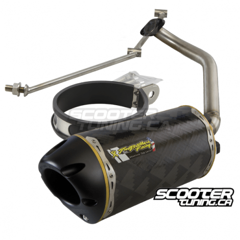 exhaust two brothers racing carbon fatty gy6 125 180cc