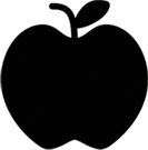 An icon of an apple