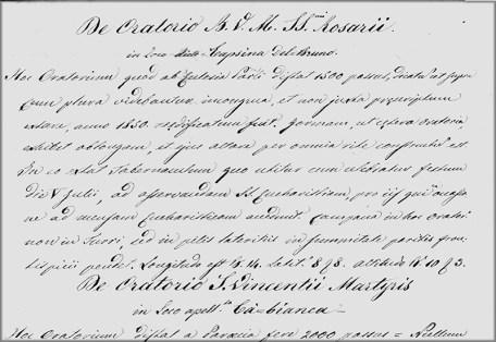 visita pastorale 1856