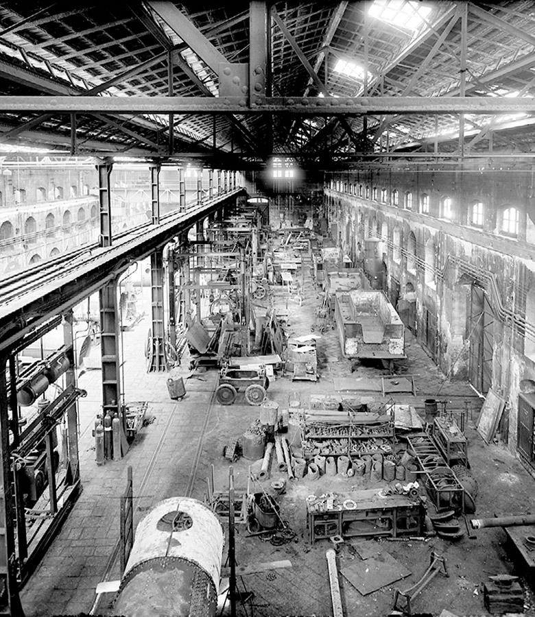 Veduta dell' opificio in periodo di produzione