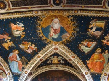 il Padre Eterno, nell'aula claustrale