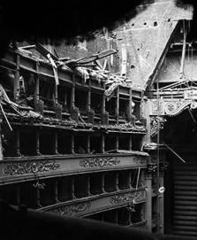 La Scala bombardata