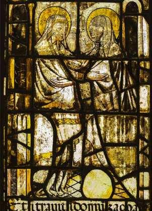 part. vetrata del Duomo - Visitazione - dopo il restaturo