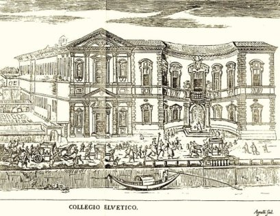 veduta del '700 del Palazzo del Sneato