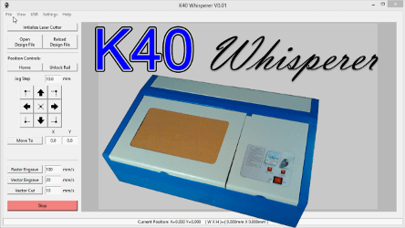 K40 Whisperer– K40 (Cheap Chinese Laser) Control Software