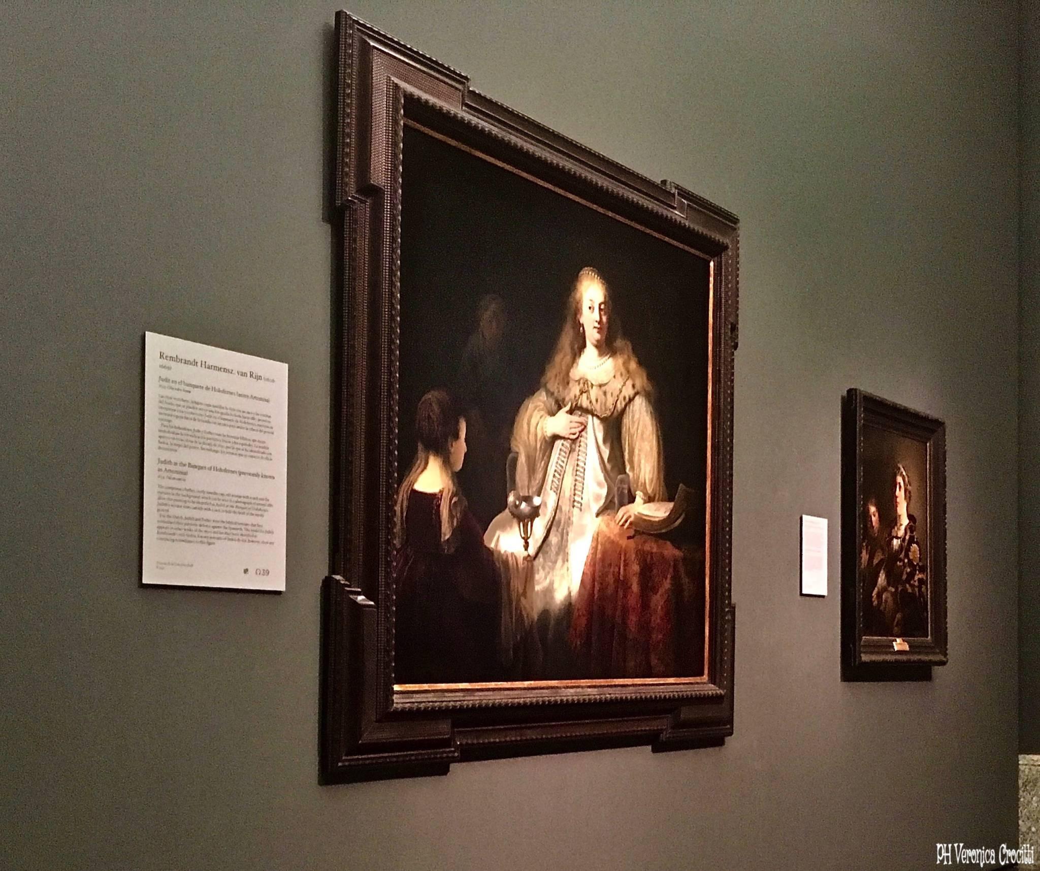Giuditta al banchetto di Oloferne, Rembrandt. Museo del Prado - Madrid, Spagna