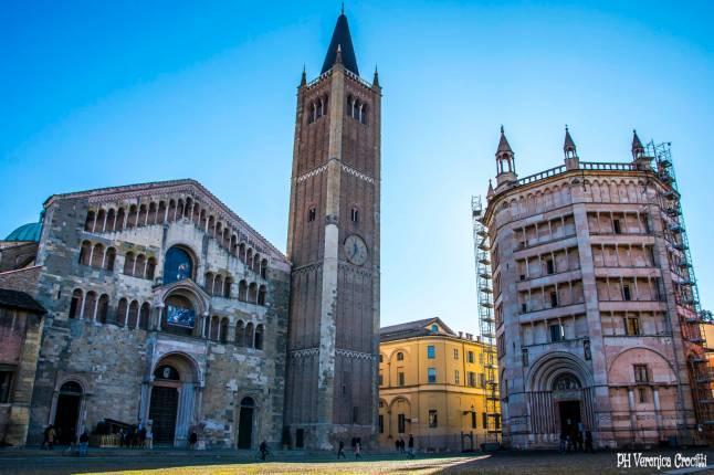 Duomo e Battistero di Parma, Italia