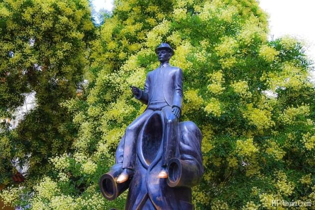 Monumento in ricordo di Franz Kafka - Praga, Repubblica Ceca (Europa)