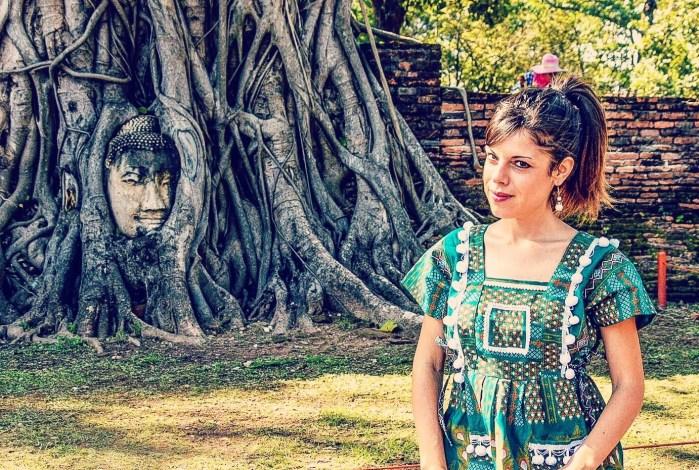 Testa del Buddha incastonata in albero secolare - Ayutthaya, Thailandia