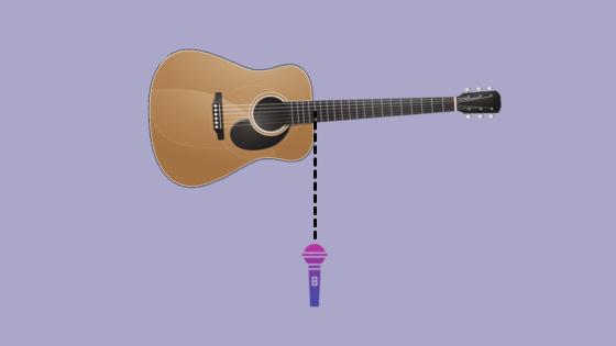 Mono recording technique for acoustic guitar