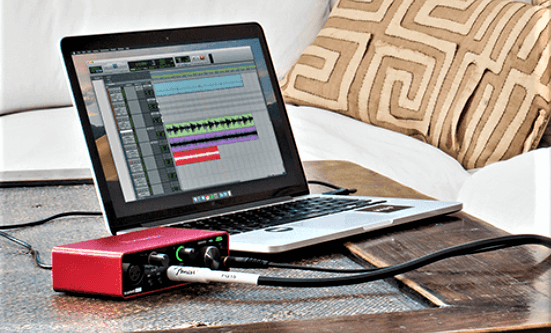 how to connect headphone to electric guitar with audio interface