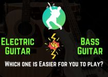 is electric guitar easier than bass