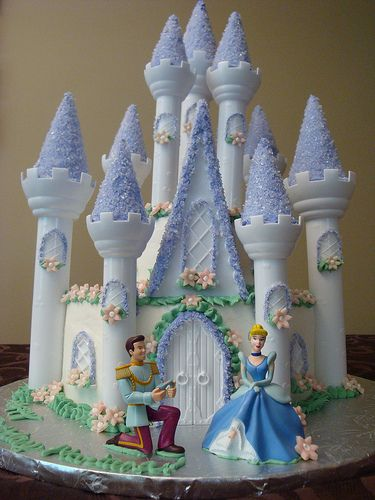 Beautiful Cinderella Castle Cake
