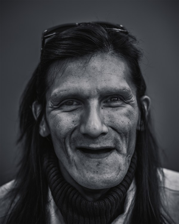 A portrait photograph of a homeless man in Regina, Saskatchewan