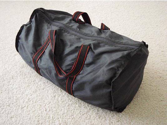 A DIY, hand-made sandbag