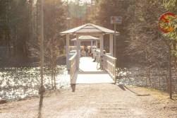 A quaint little bridge crossing a section of Nydalasjön (local lake).