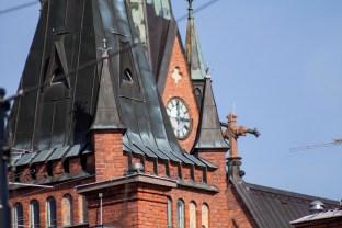 A church in downtown Umeå.