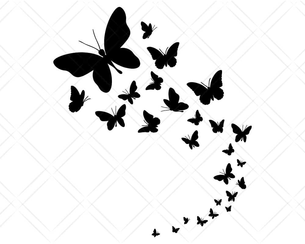 Download Butterfly Swarm SVG Cut Files | Scotties Designs