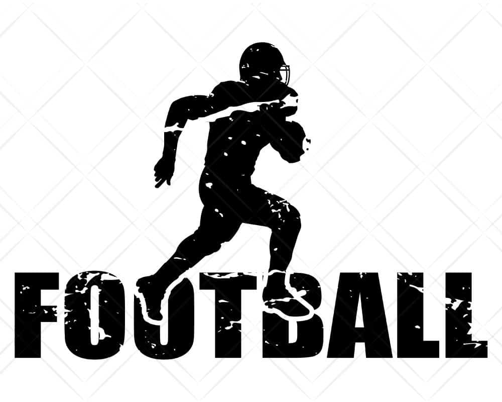Download Football Player Distressed SVG Cut Files | Scotties Designs