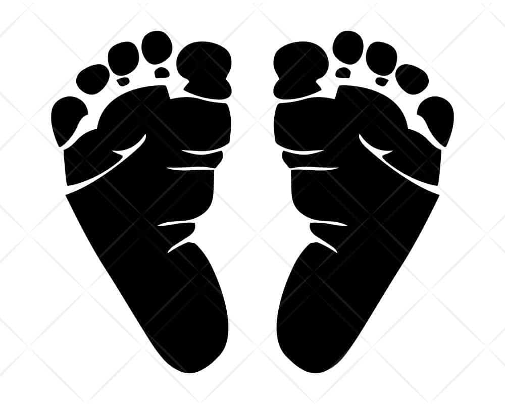 Download Baby Feet SVG Cut Files-for Cricut and Silhouette ...