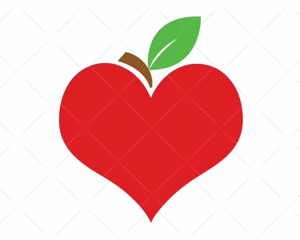 Download Apple Heart SVG Cut Files for Cricut and Silhouette ...
