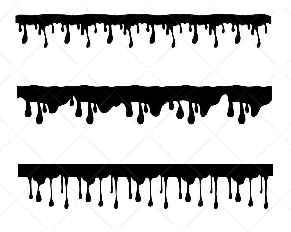 Download Dripping SVG Cut Files for Cricut and Silhouette ...