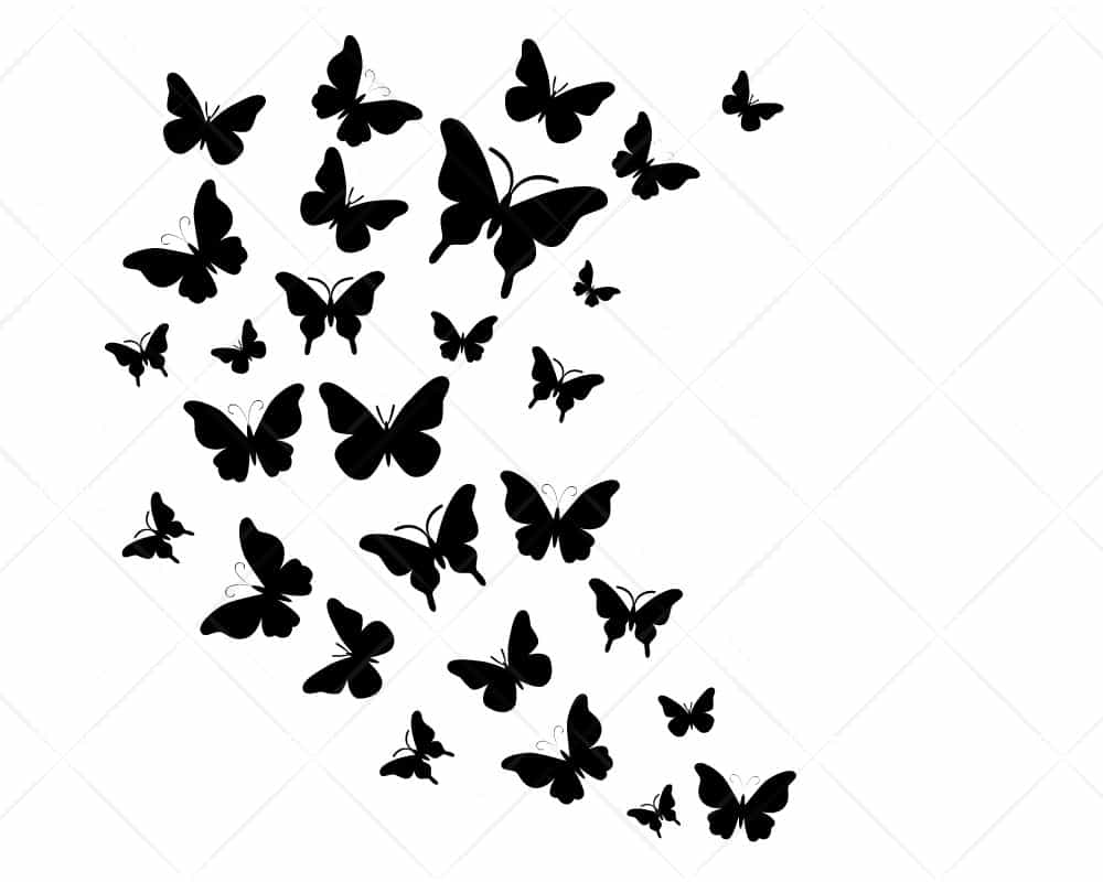 Download Butterfly Swarm 2 SVG Cricut Silhouette | Scotties Designs