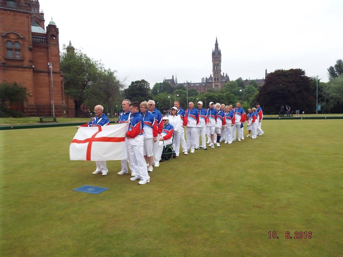 Team England with flag