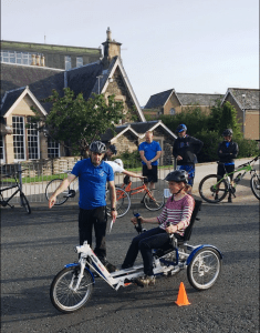 Adapted bike at coaches' event
