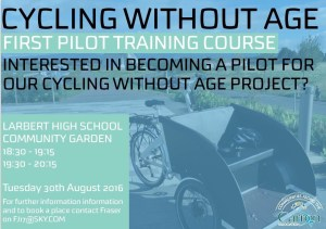 Cycling without age pilot training flyer