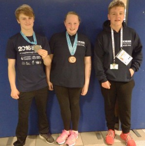 Fife Junior Swimmers - Ollie Carter, Cara Smyth and Steven McCormci