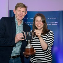 Andy Smith receiving the Elspeth Watson Trophy