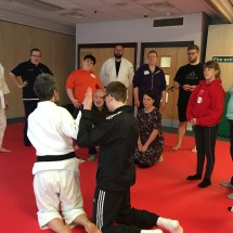 Visually impaired judo session