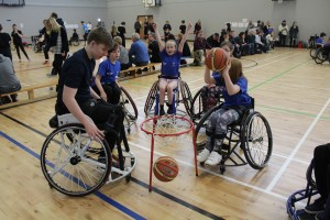 Basketball session at 2016 Parasport Festival
