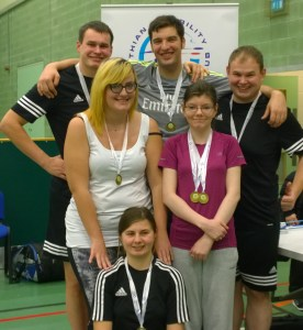 Fife badminton squad group photo