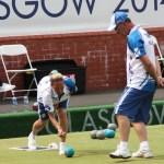 Irene Edgar and David Thomas at the 2014 Commonwealth Games