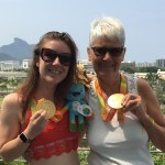 Libby Clegg with Janice Eaglesham in Rio