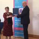 Millar Stoddart receiving Service to Sport Award