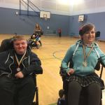 Aaran and Hannah with medals